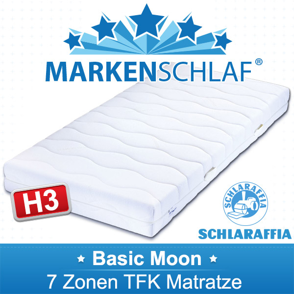 basic moon 7 zonen tfk matratze schlaraffia 100x200 h3 ebay. Black Bedroom Furniture Sets. Home Design Ideas